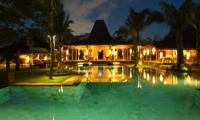 Gardens and Pool at Night - Bali Ethnic Villa - Umalas, Bali