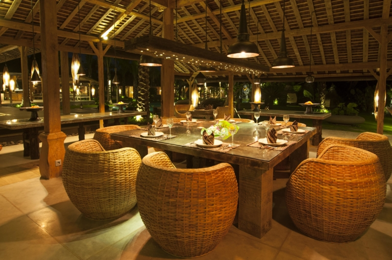 Dining Area at Night - Bali Ethnic Villa - Umalas, Bali