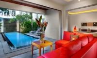Living Area with Pool View - Bali Island Villas - Seminyak, Bali