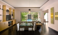 Living and Dining Area with TV - Bali Island Villas - Seminyak, Bali