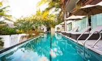 Pool Side Sun Loungers - Batu Karang Lembongan Resort - Nusa Lembongan, Bali