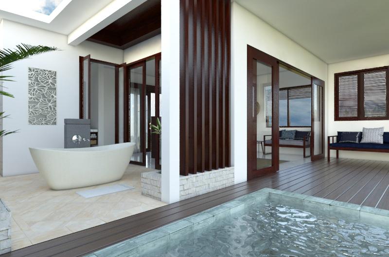 Open Plan Bathtub - Batu Karang Lembongan Resort - Nusa Lembongan, Bali