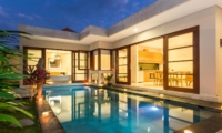 Private Pool at Night - Beautiful Bali Villas - Seminyak, Bali