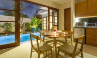 Kitchen and Dining Area with Pool View - Beautiful Bali Villas - Seminyak, Bali