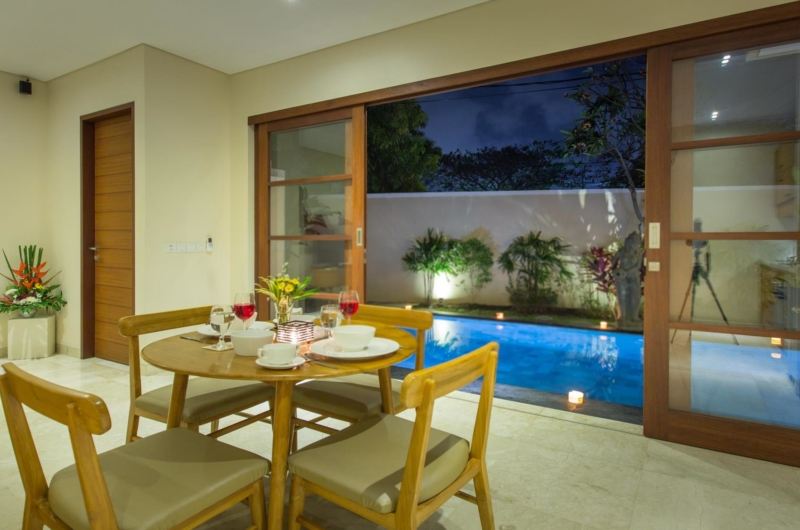 Dining Area with Pool View - Beautiful Bali Villas - Seminyak, Bali