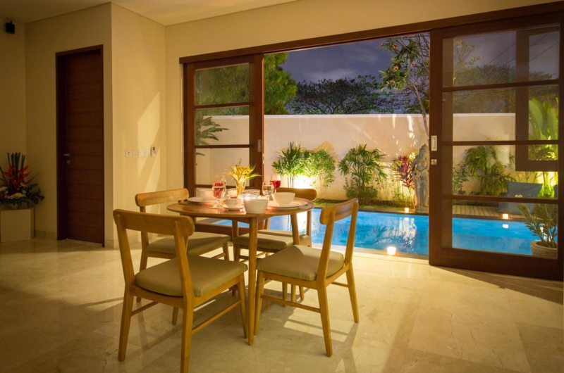 Dining Area at Night - Beautiful Bali Villas - Seminyak, Bali
