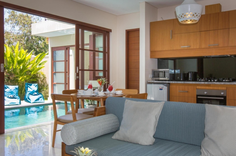 Living, Kitchen and Dining Area - Beautiful Bali Villas - Seminyak, Bali
