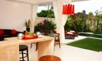 Lounge Area with Pool View - Briana Villa - Batubelig, Bali