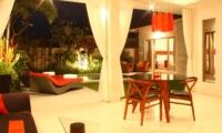 Dining Area at Night - Briana Villa - Batubelig, Bali