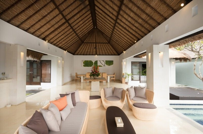 Living and Dining Area - Bvilla Spa - Seminyak, Bali