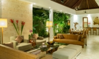 Living and Dining Area at Night - Casa Brio - Seminyak, Bali