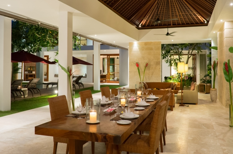 Dining Area with Pool View - Casa Brio - Seminyak, Bali