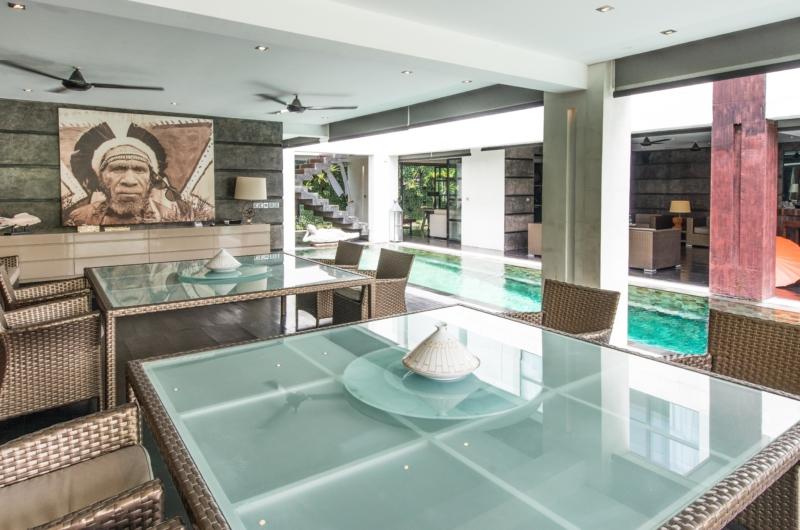 Dining Area with Pool View - Casa Hannah - Seminyak, Bali