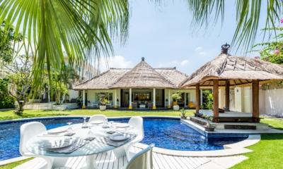 Pool Side Dining - Casa Lucas - Seminyak, Bali