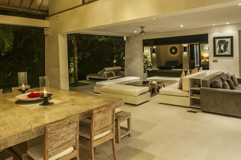Living and Dining Area with Pool View - Casa Mateo - Seminyak, Bali