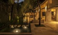 Pool at Night - Casa Mateo - Seminyak, Bali