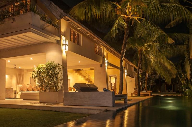 Gardens and Pool at Night - Casa Mateo - Seminyak, Bali