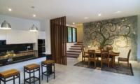 Kitchen and Dining Area - Casa Cinta 1 - Batubelig, Bali
