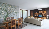 Living and Dining Area with TV - Casa Cinta 1 - Batubelig, Bali