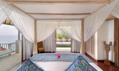Bedroom and Balcony - Cempaka Villa - Candidasa, Bali