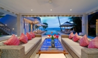 Living Area with Sea View - Cempaka Villa - Candidasa, Bali