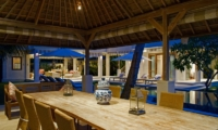 Dining Area with Pool View - Cempaka Villa - Candidasa, Bali