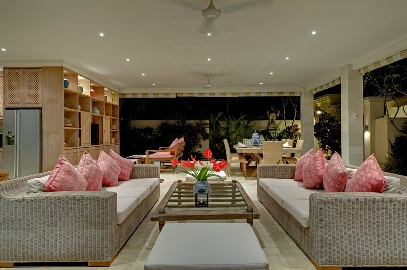 Living and Dining Area - Cempaka Villa - Candidasa, Bali