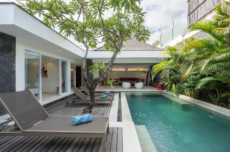Pool Side - Chakra Villas - Villa Anahata - Seminyak, Bali