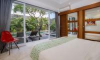 Bedroom and Balcony - Chakra Villas - Villa Anahata - Seminyak, Bali