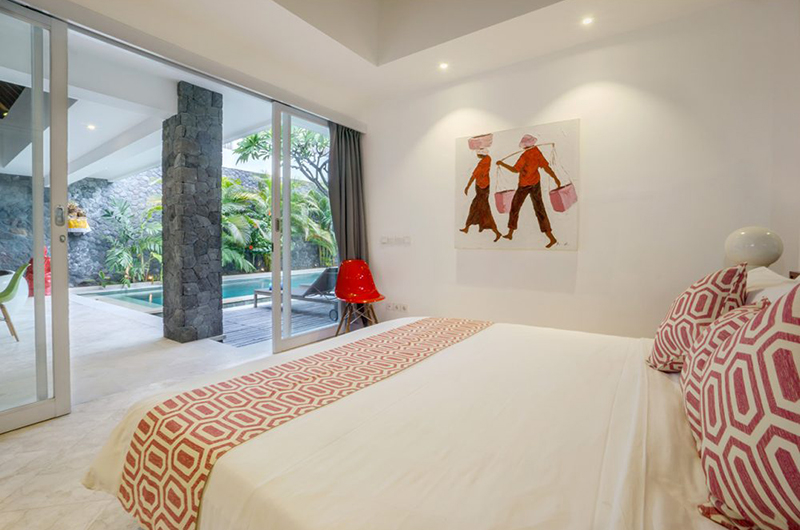 Bedroom with Pool View - Chakra Villas - Villa Anahata - Seminyak, Bali