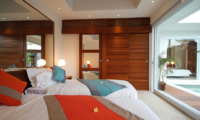Twin Bedroom with Pool View - Chakra Villas - Villa Kalila - Seminyak, Bali