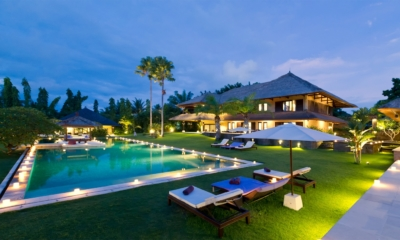 Gardens and Pool at Night - Chalina Estate - Canggu, Bali