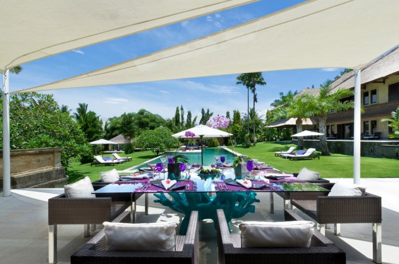 Dining Area with Pool View - Chalina Estate - Canggu, Bali