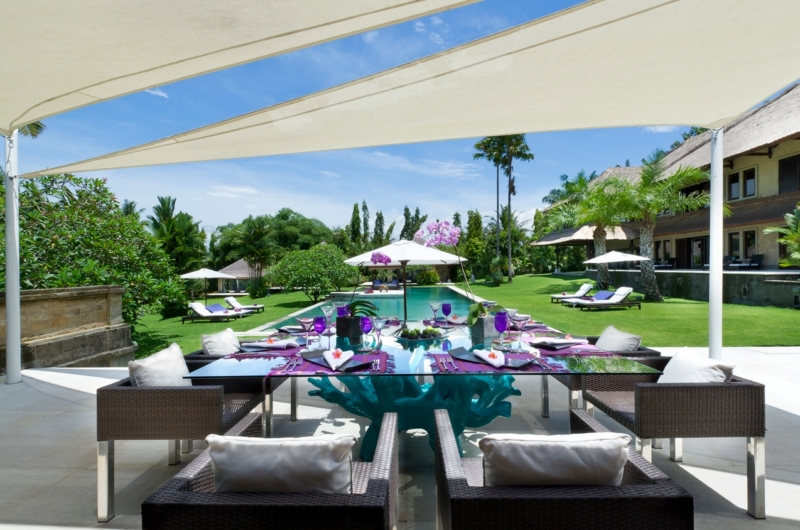 Pool Side Dining - Chalina Estate - Canggu, Bali