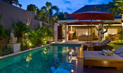 Swimming Pool at Night - Chandra Villas - Seminyak, Bali