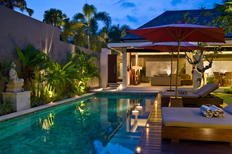 Sun Beds at Night - Chandra Villas - Seminyak, Bali
