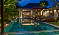 Pool Side Loungers at Night - Chandra Villas - Seminyak, Bali