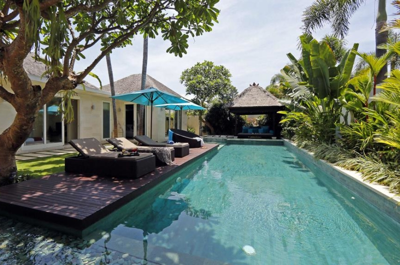 Pool Side Loungers at Day Time - Chandra Villas - Seminyak, Bali