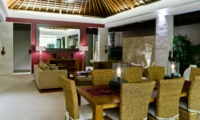 Living and Dining Area with Mirror - Chandra Villas - Seminyak, Bali