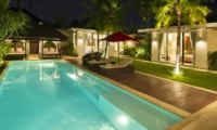 Gardens and Pool at Night - Chandra Villas 8 - Seminyak, Bali