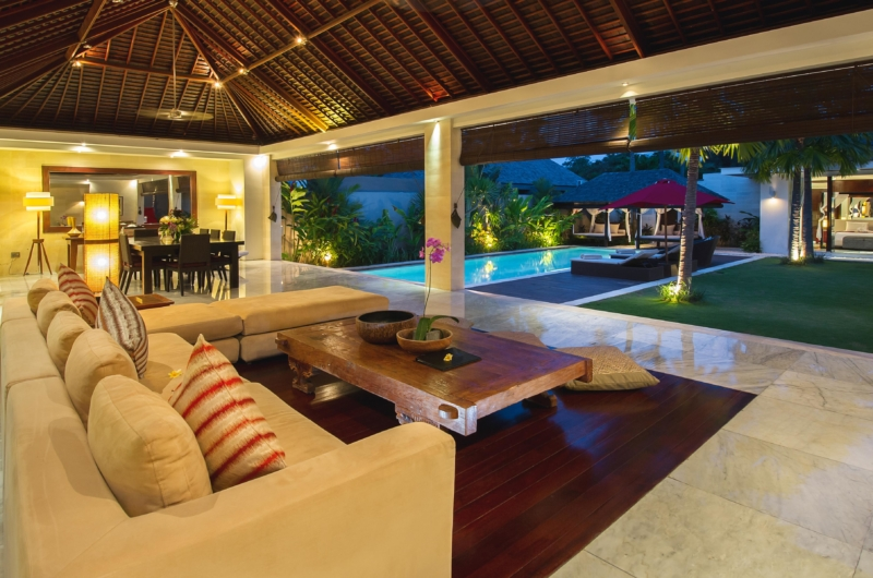 Living and Dining Area - Chandra Villas 8 - Seminyak, Bali