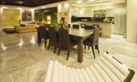 Living, Kitchen and Dining Area - Chandra Villas 8 - Seminyak, Bali