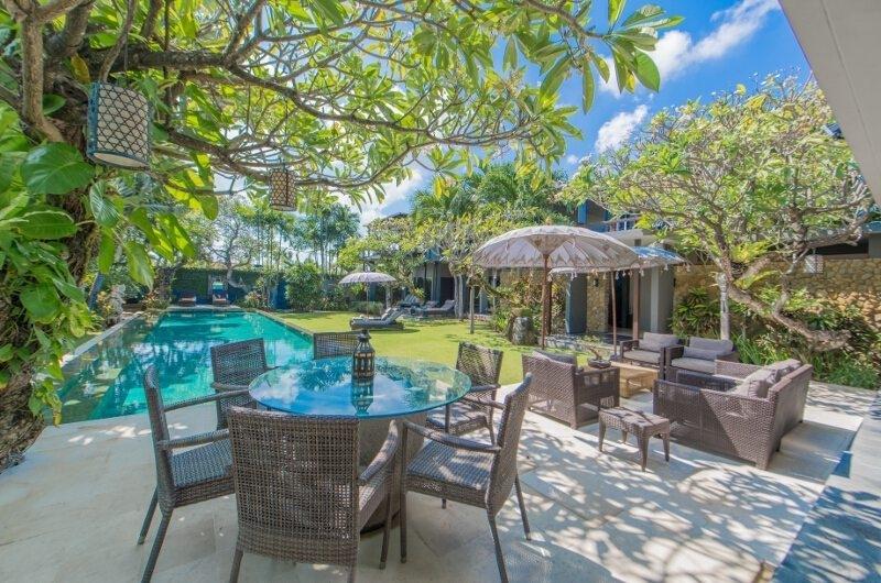 Pool Side Dining - Chimera Villas - Seminyak, Bali