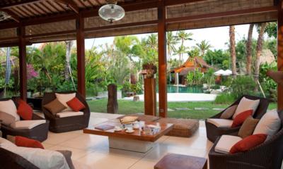 Living Area with Pool View - Dea Villas Villa Sati - Canggu, Bali