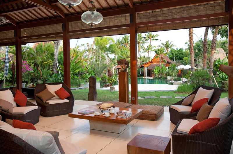 Living Area with Pool View - Dea Villas Villa Sati - Canggu, Bali