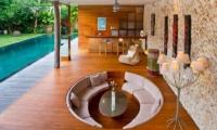 Living Area with Pool View - Eko Villa Bali - Seminyak, Bali