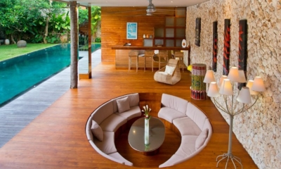 Living Area with Pool View - Eko Villa Bali - Seminyak, Bali