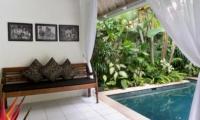 Pool Side Seating Area - Esha Drupadi I - Seminyak, Bali