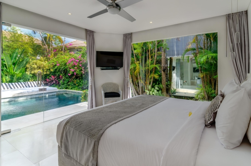 Bedroom with Pool View - Esha Drupadi II - Seminyak, Bali