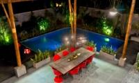Dining Area Top View at Night - Esha Seminyak 2 - Seminyak, Bali